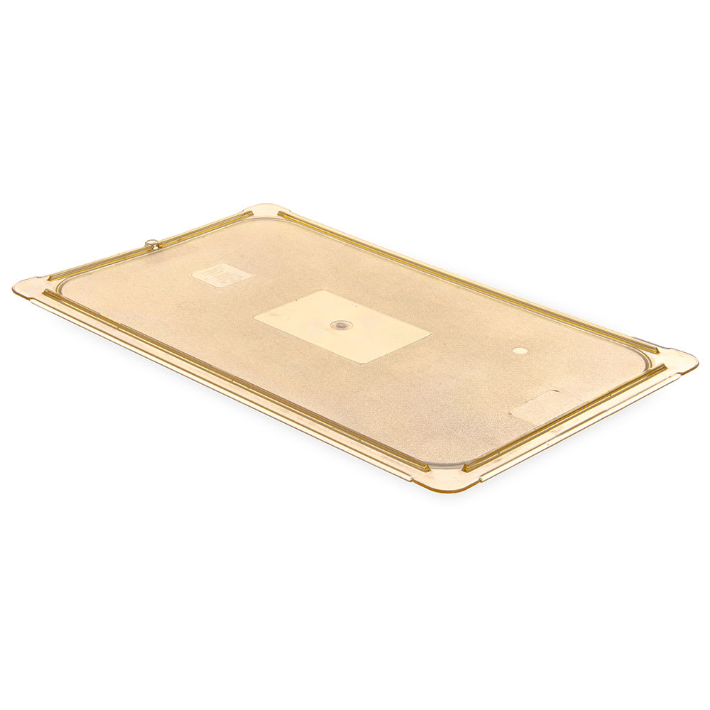 Carlisle 10416U13 Universal Full Size High Heat Food Pan Lid - Flat, Amber