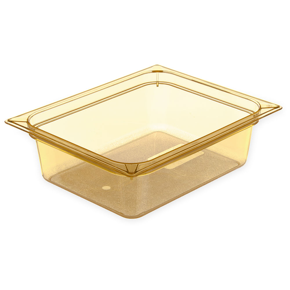 "Carlisle 10421B13 High Heat Half Size Food Pan - 4""D, Amber"