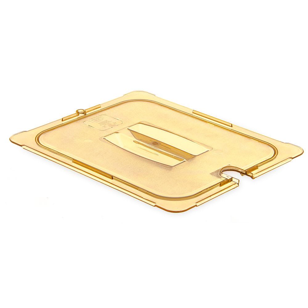 Carlisle 10431U13 Universal Half Size High Heat Food Pan Notched Lid - Amber