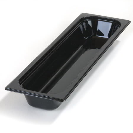"Carlisle 1044003 High Heat Half Size-Long Food Pan - 2-1/2""D, Black"