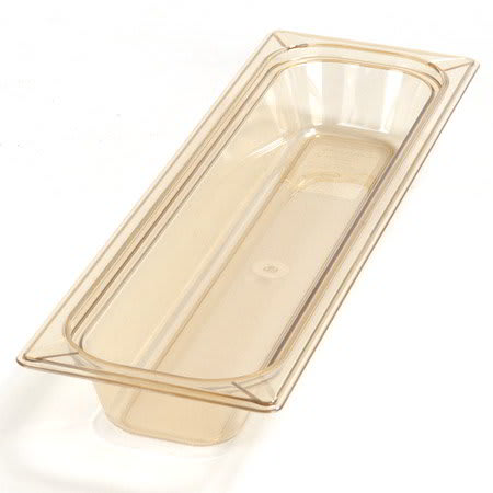 "Carlisle 1044013 High Heat Half Size-Long Food Pan - 2 1/2""D, Amber"