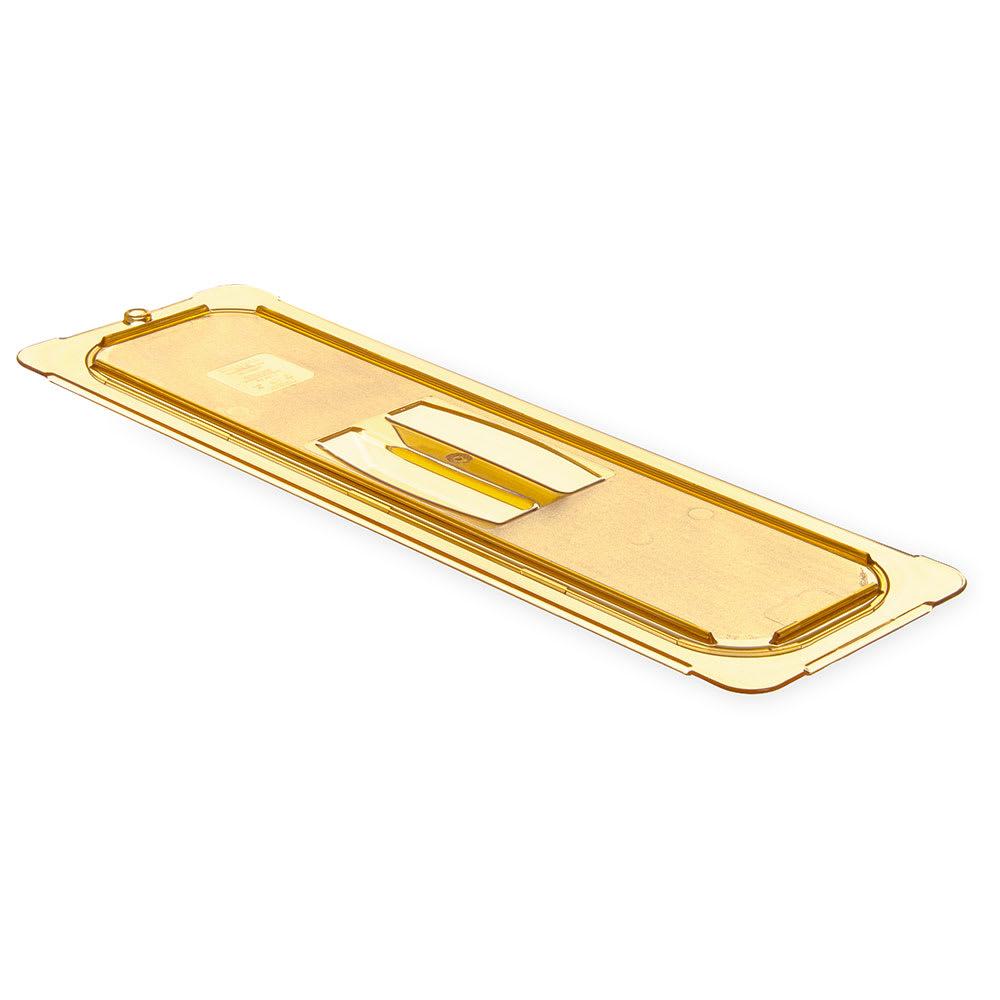 Carlisle 10450U13 Universal Half Size-Long High Heat Food Pan Solid Lid - Amber