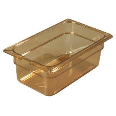 """Carlisle 10461-813 High Heat 1/3 Size Food Pan - 4""""D, (3/Pk) Amber"""
