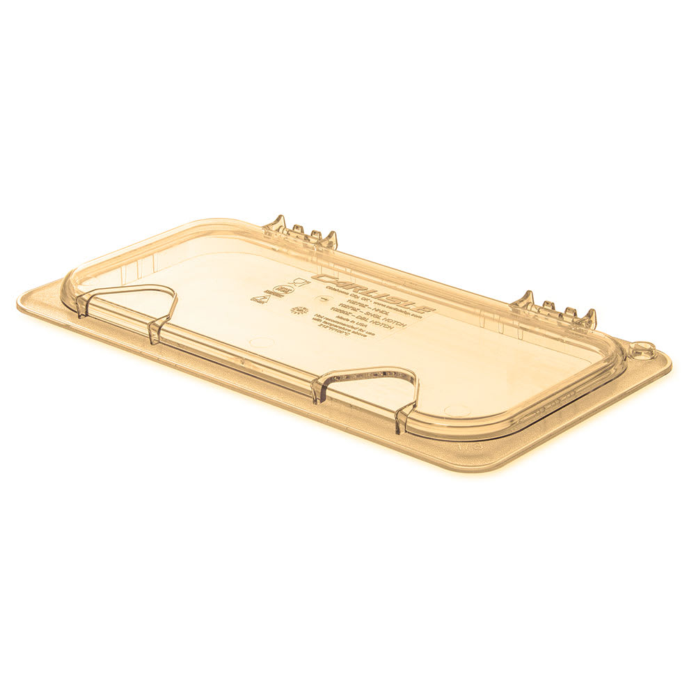 Carlisle 10478Z13 StorPlus™ EZ Access High Heat 1/3 Size Universal Lid, Amber