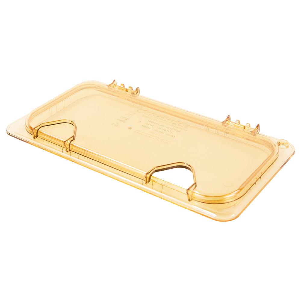 Carlisle 10479Z13 StorPlus™ EZ Access High Heat 1/3 Size Universal Lid, Amber