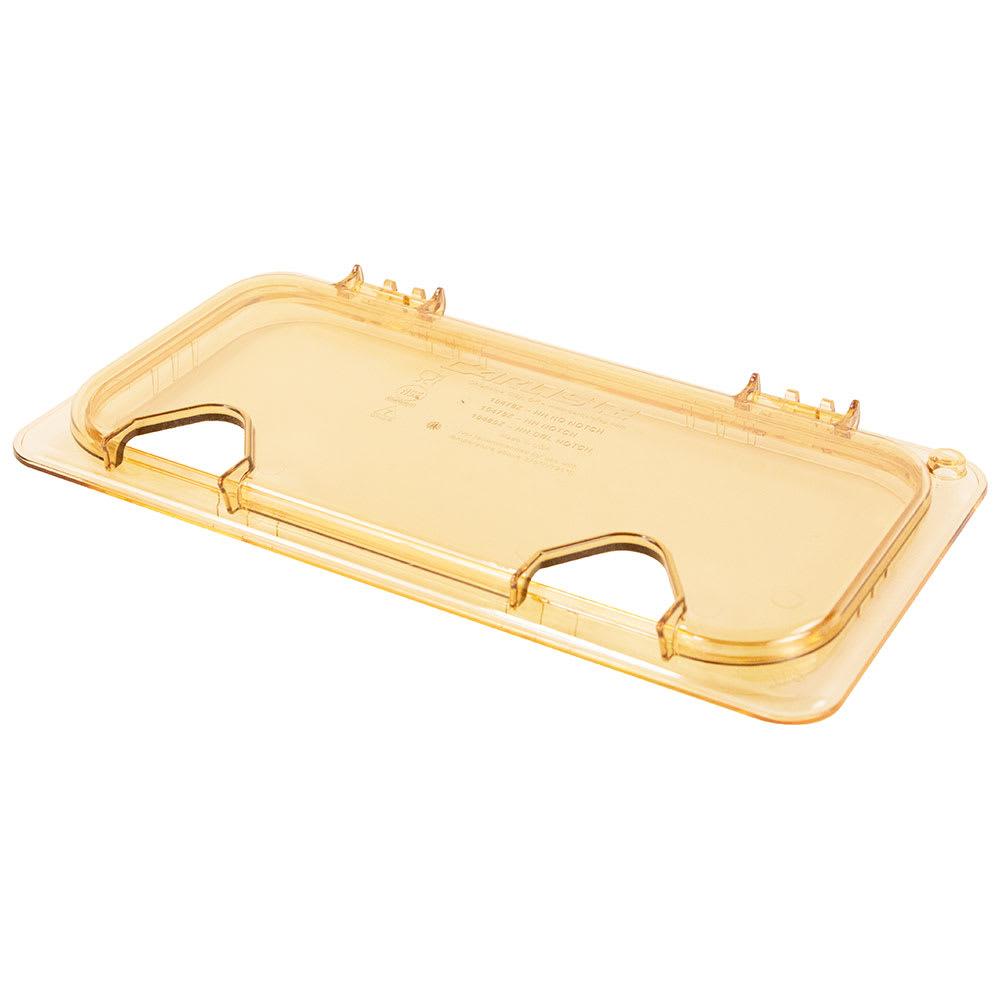 Carlisle 10480Z13 StorPlus™ EZ Access High Heat 1/3 Size Universal Lid, Amber