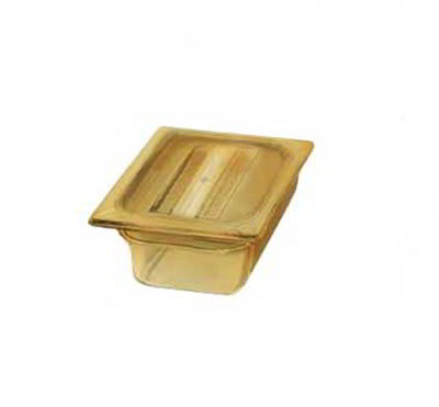 "Carlisle 1050003 High Heat 1/6 Size Food Pan - 2-1/2""D, Black"