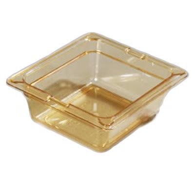 """Carlisle 1050013 High Heat 1/6 Size Food Pan - 2-1/2""""D, Amber"""