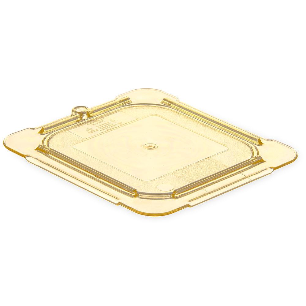 Carlisle 10516U13 Universal 1/6 Size High Heat Food Pan Lid - Flat, Amber