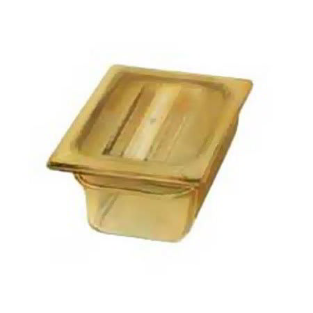 "Carlisle 1052013 High Heat 1/9 Size Food Pan - 2-1/2""D, Amber"