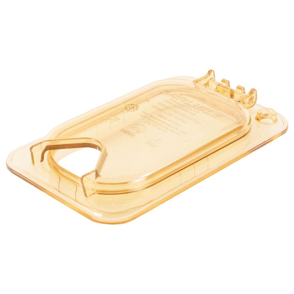 Carlisle 10539Z13 StorPlus™ EZ Access High Heat 1/9 Size Universal Lid, Amber