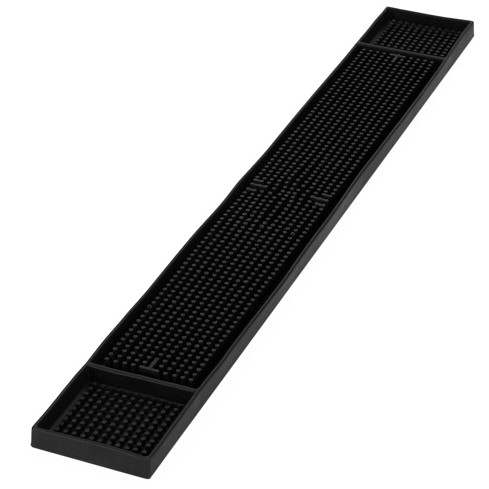"Carlisle 1060203 Bar Mat - 26-3/4x3-1/4"" Black"