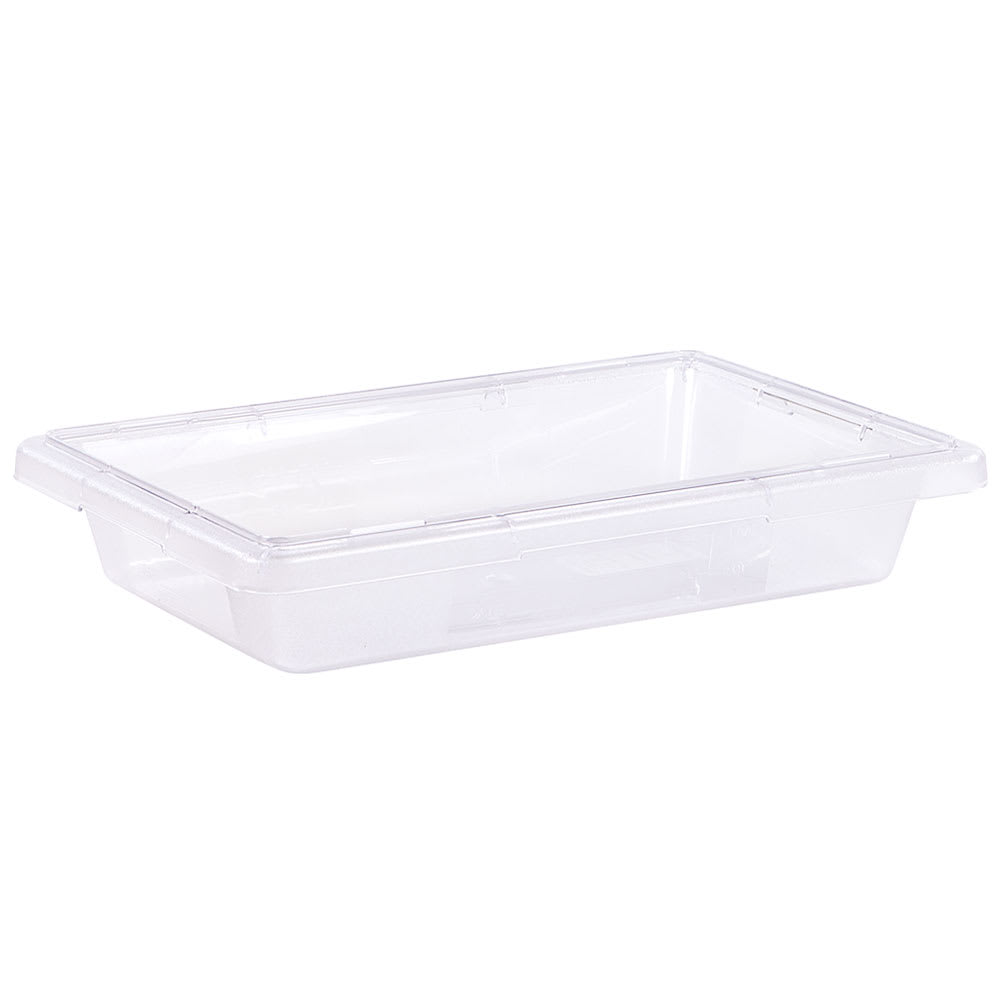 "Carlisle 1061007 2 gal Food Storage Box - 18x12x3 1/2"" Clear"