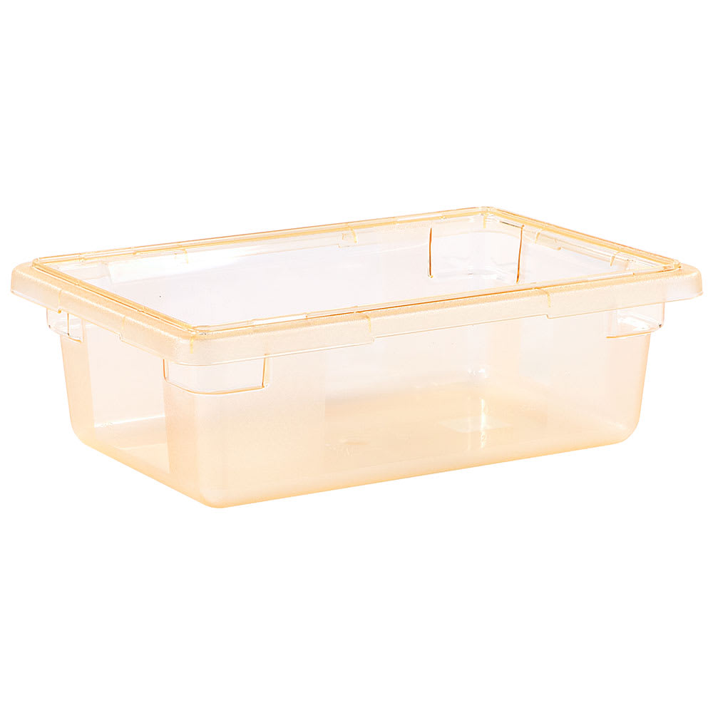 "Carlisle 10611C22 3-1/2-gal Food Storage Box - 18x12x6"" Yellow"