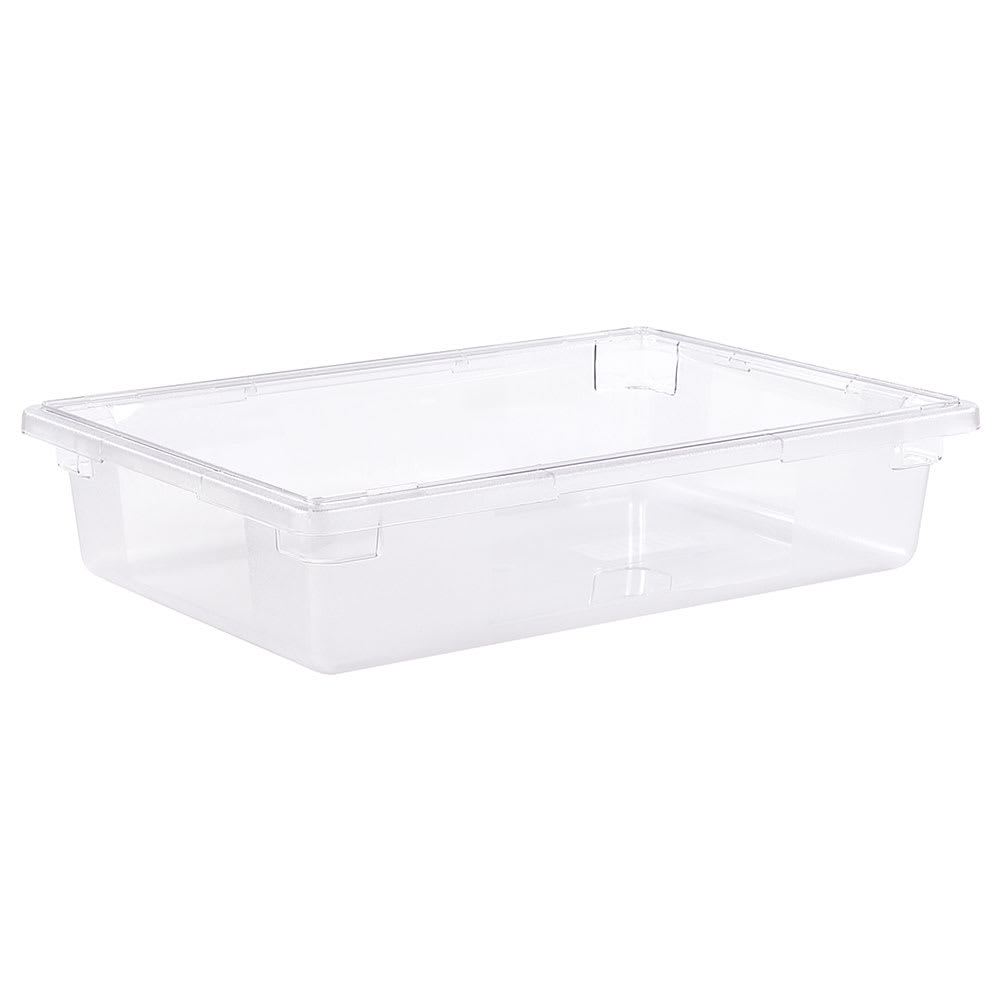 "Carlisle 1062107 8 1/2 gal Food Storage Box - 26x18x6"" Clear"