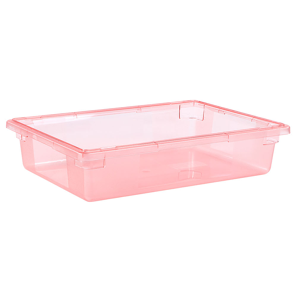 "Carlisle 10621C05 8-1/2-gal Food Storage Box - 26x18x6"" Red"