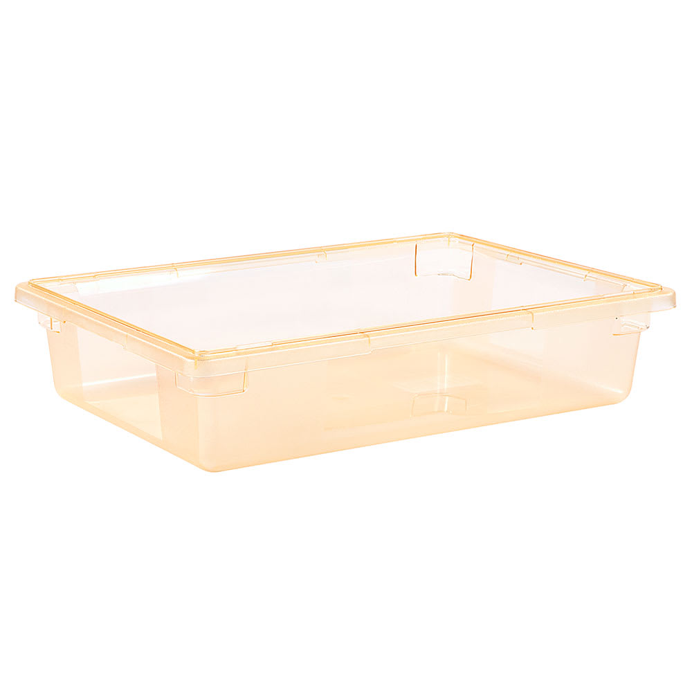 "Carlisle 10621C22 8 1/2 gal Food Storage Box - 26x18x6"" Yellow"