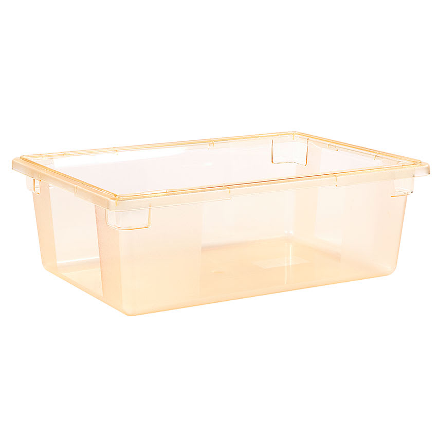 "Carlisle 10622C22 12 1/2 gal Food Storage Box - 26x18x9"" Yellow"