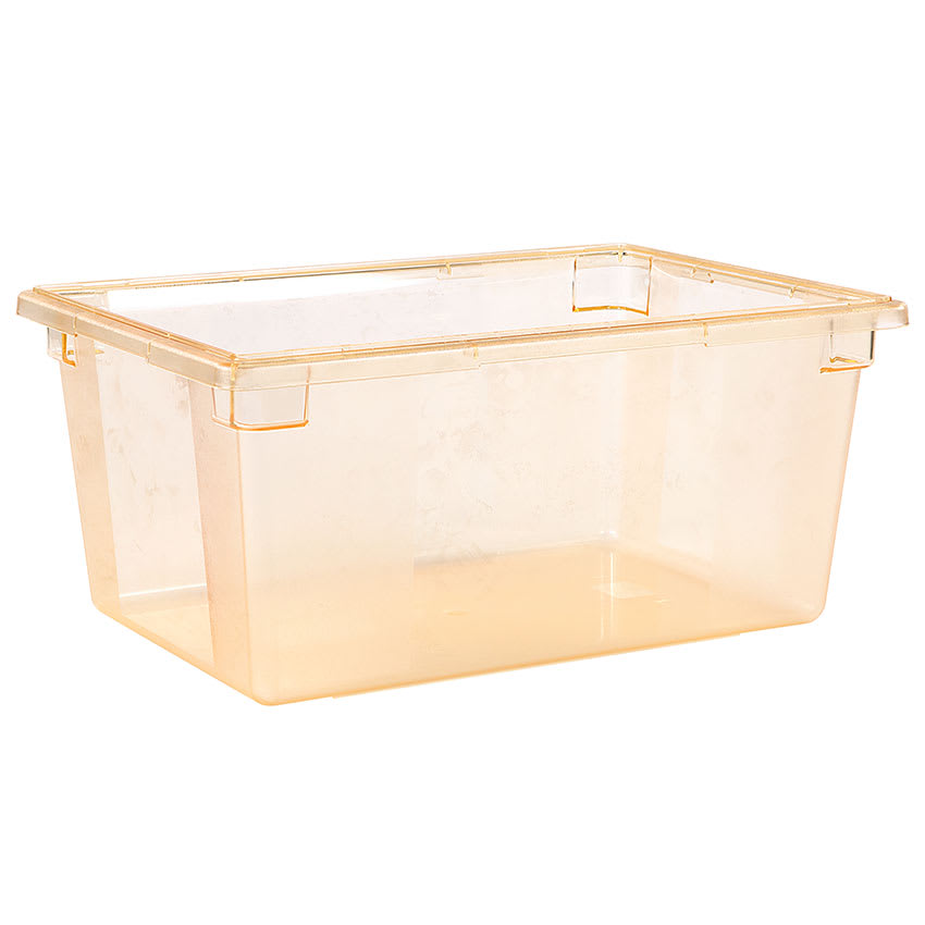 "Carlisle 10623C22 16.6 gal Food Storage Box - 26x18x12"" Yellow"