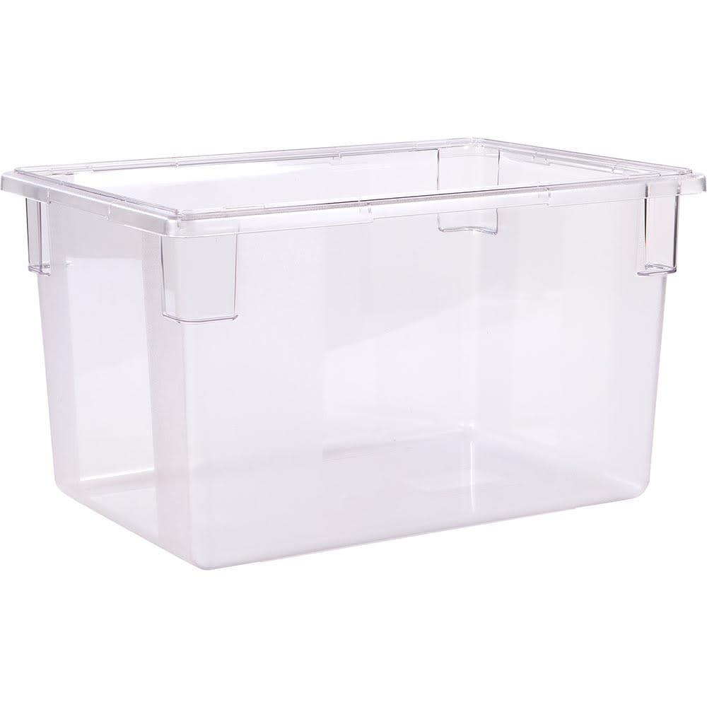 "Carlisle 1062407 21 1/2 gal Food Storage Box - 26x18x15"" Clear"