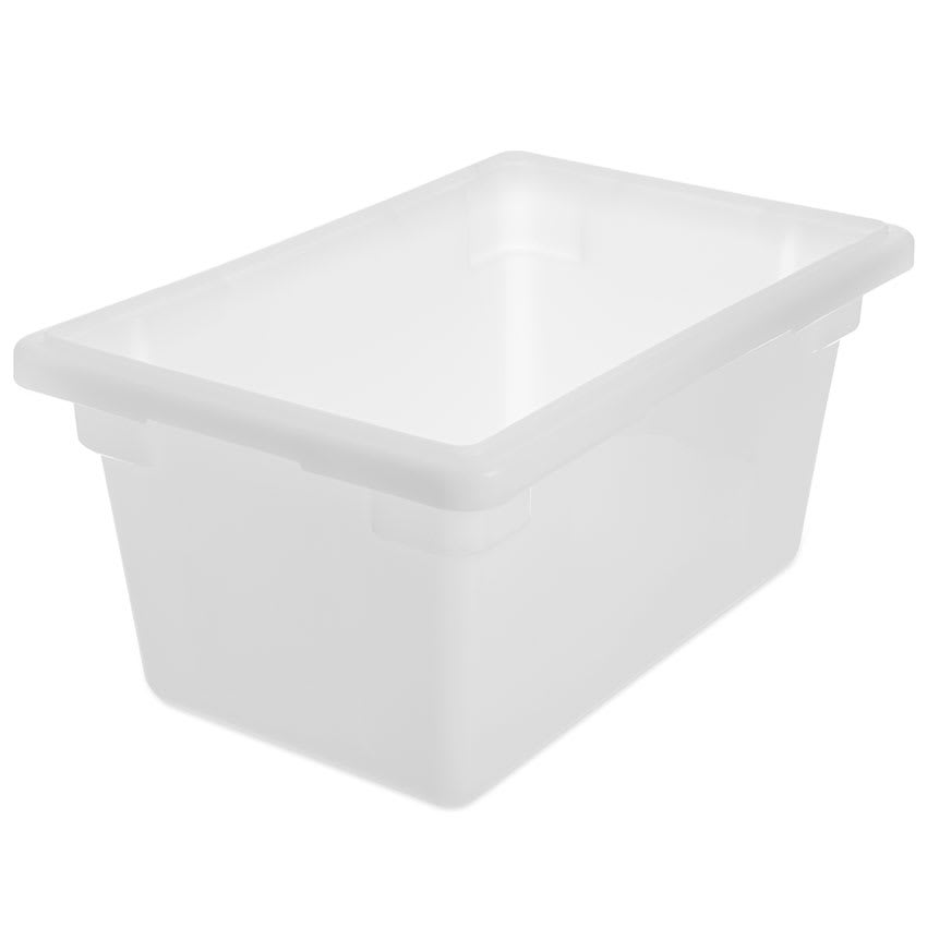 "Carlisle 1063202 5 1/2 gal Food Storage Box - 18x12x9"" White"