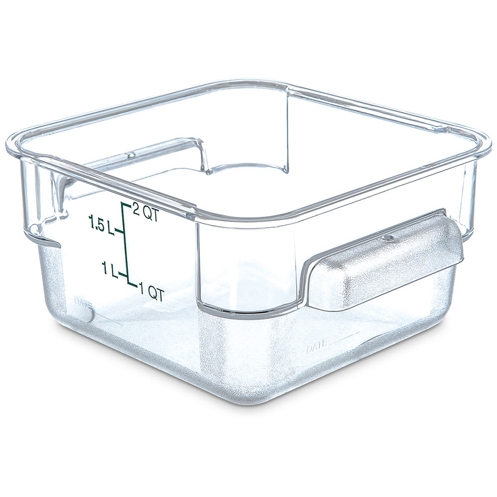 Carlisle 1072007 2 qt Square Food Storage Container - Clear
