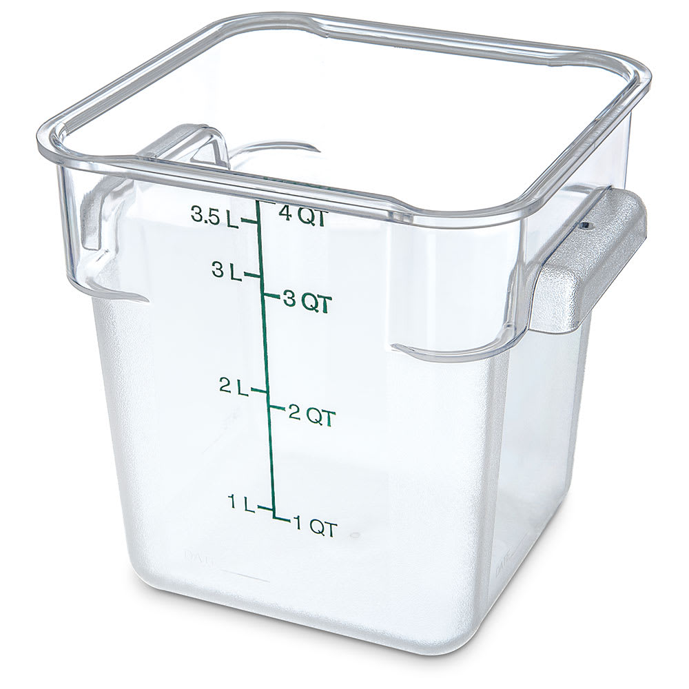 Carlisle 1072107 4 qt Square Food Storage Container - Clear