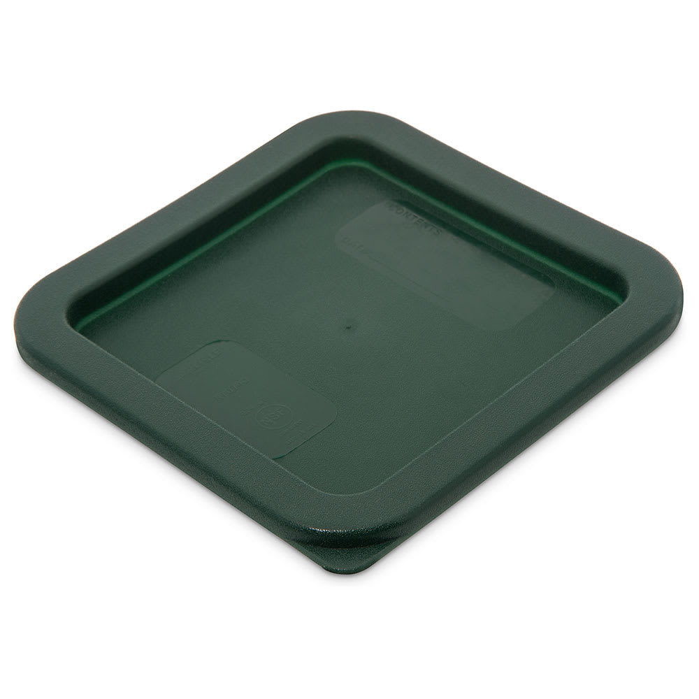 Carlisle 1074008 Food Storage Lid, for 2 & 4 qt Containers, Square, Forest Green