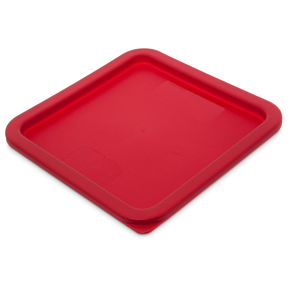 Carlisle 1074105 Food Storage Lid, for 6 & 8 qt Containers, Square, Red