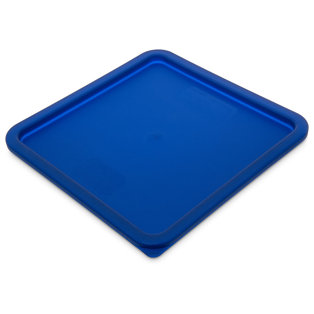 Carlisle 1074260 Food Storage Lid, for 12, 18 & 22 qt Containers, Square, Blue