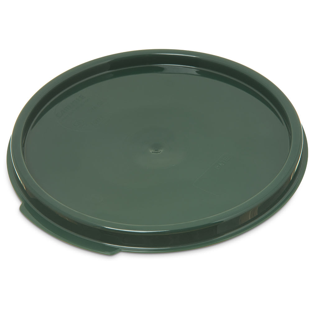 Carlisle 1077108 Food Storage Lid, for 2 & 4 qt Containers, Round, Forest Green