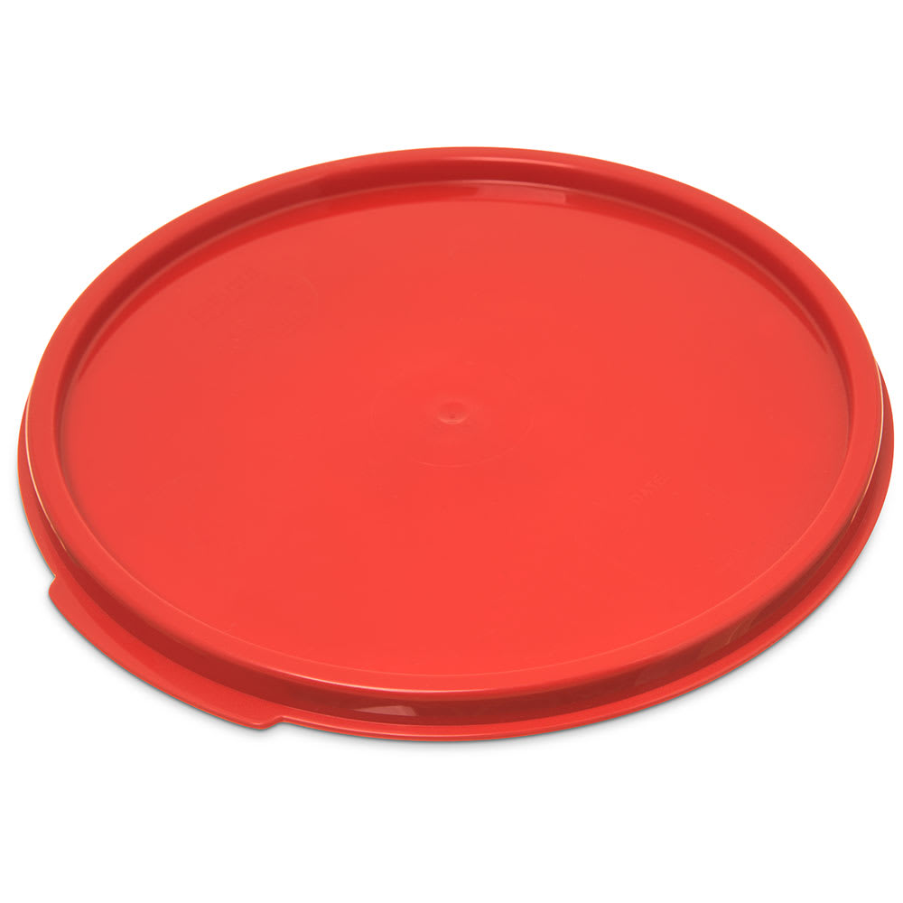 Carlisle 1077205 Food Storage Lid, for 6 & 8-qt Containers, Round, Red