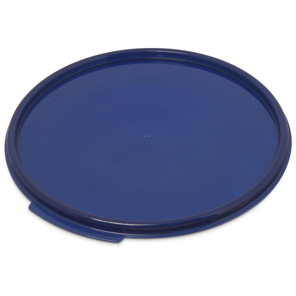 Carlisle 1077360 12/18/22-qt Round Food Storage Lid - Blue