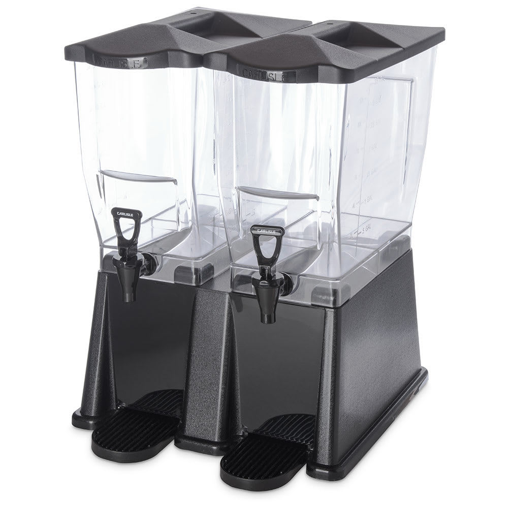 Carlisle 1085103 6 gal Premium Beverage Server - Clear/Black