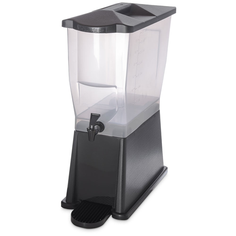 Carlisle 1085603 3 gal Economy Beverage Server - Translucent/Black
