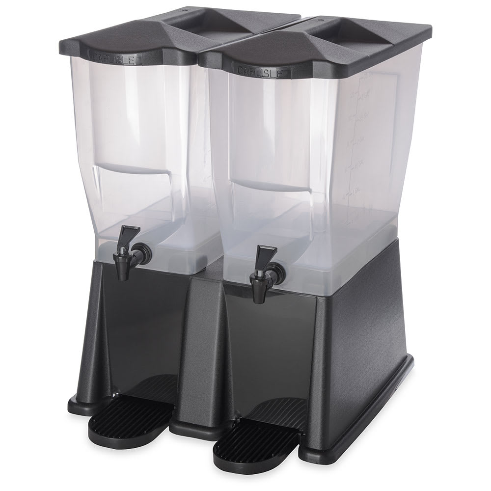 Carlisle 1085703 6 gal Economy Beverage Server - Translucent/Black
