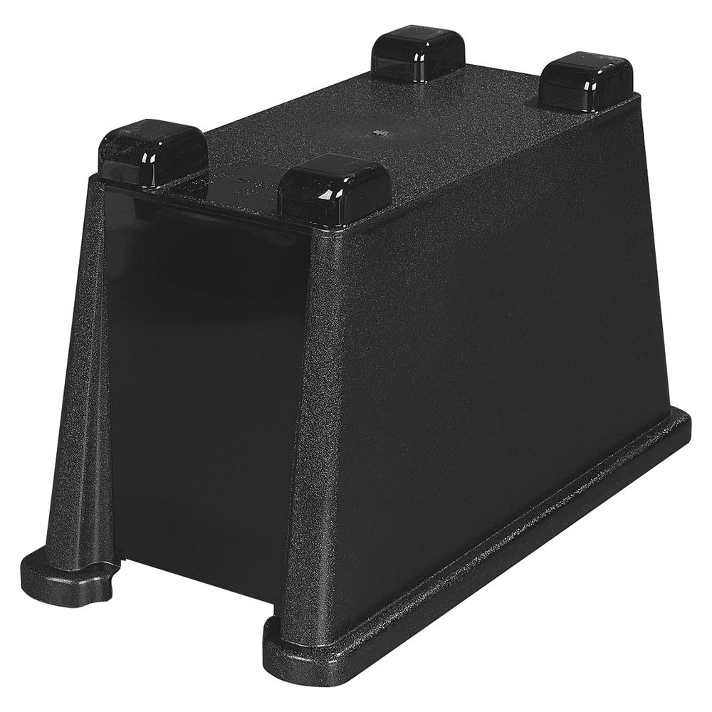 Carlisle 1086603 Single Beverage Dispenser Base - Polycarbonate, Black