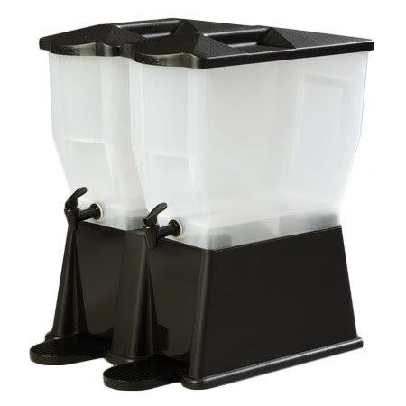 Carlisle 1086703 Double Beverage Dispenser Base ONLY - Polycarbonate, Black