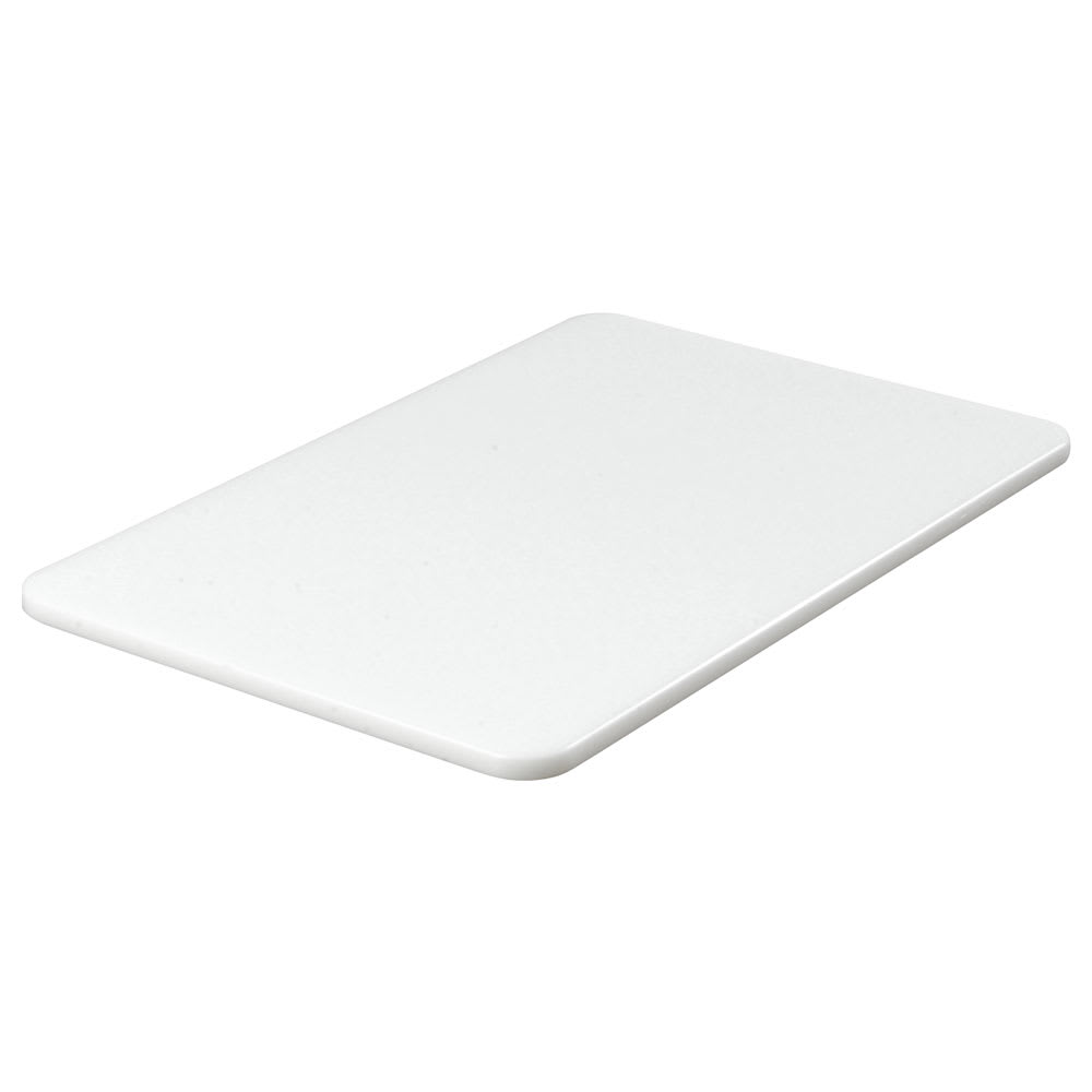 "Carlisle 1088102 Poly Cutting Board - 12x18x1/2"" White"