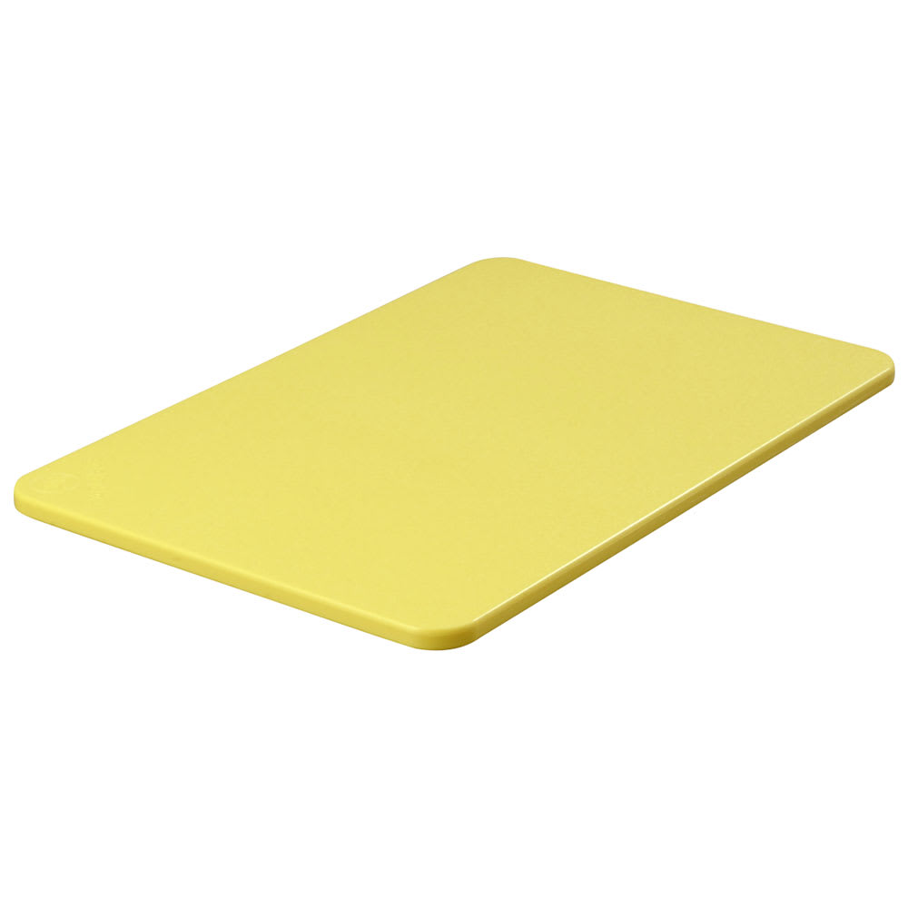 "Carlisle 1088204 Poly Cutting Board - 12x18x1/2"" Yellow"