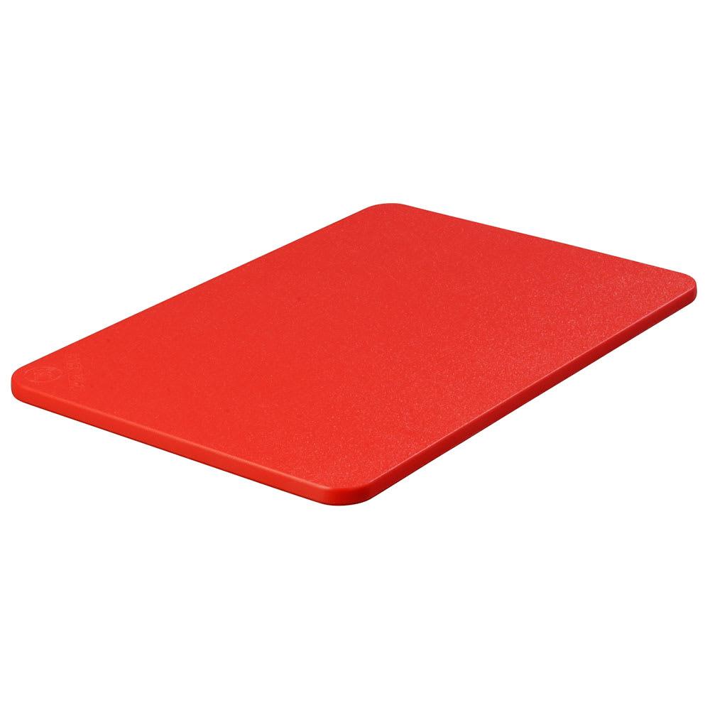 """Carlisle 1088205 Poly Cutting Board - 12x18x1/2"""" Red"""