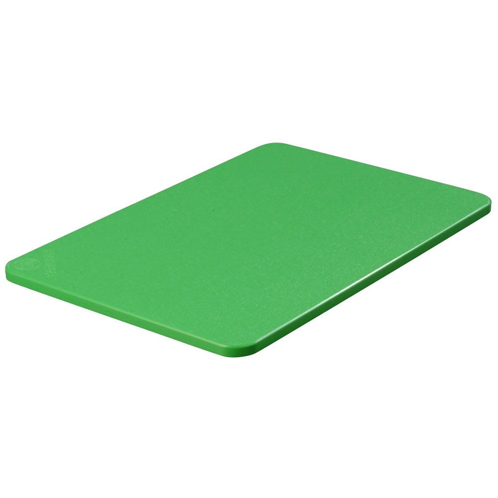 """Carlisle 1088209 Poly Cutting Board - 12x18x1/2"""" Green"""