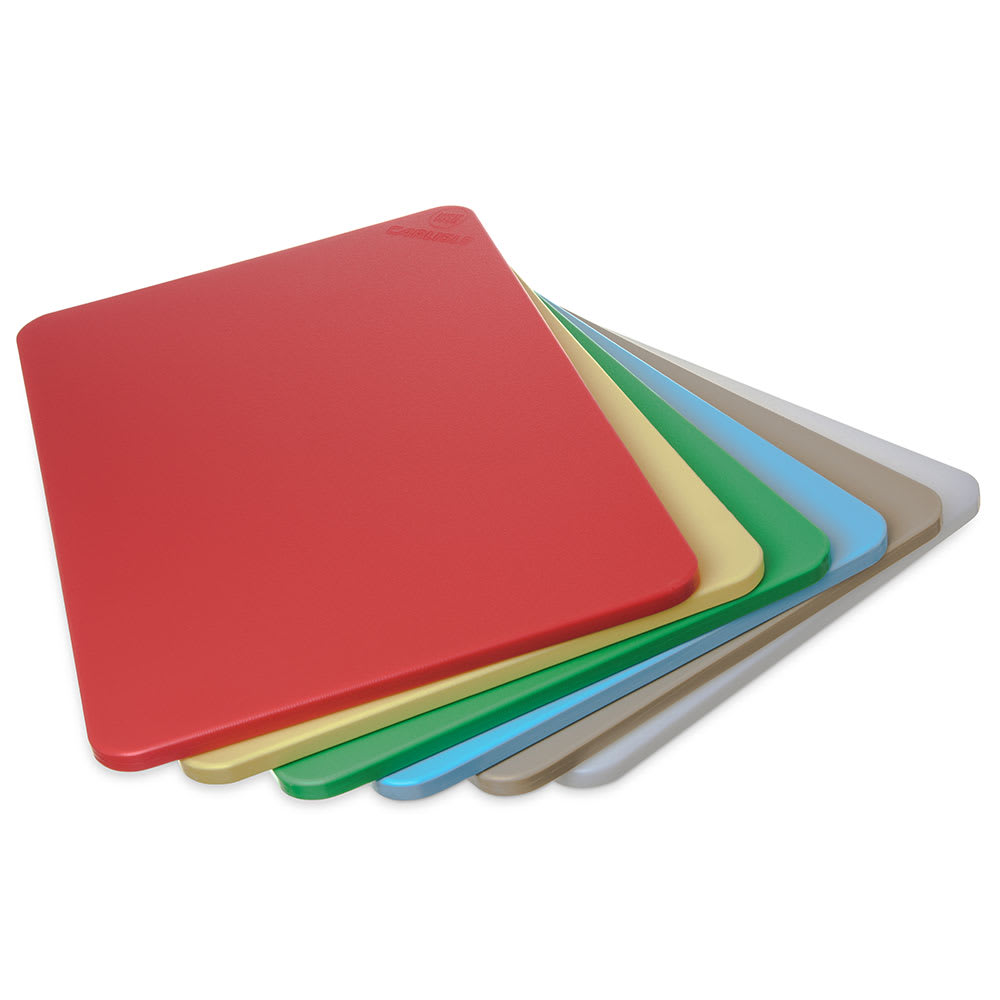 "Carlisle 1088300 Poly Cutting Board Pack - 15x20x1/2"" Multi-Color"