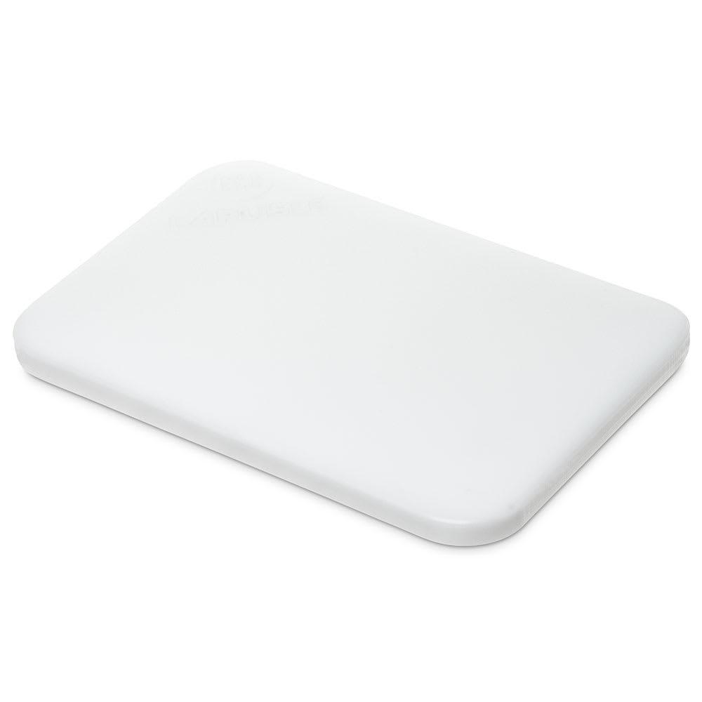"Carlisle 1090102 Poly Cutting Board - 6x9x1/2"" White"