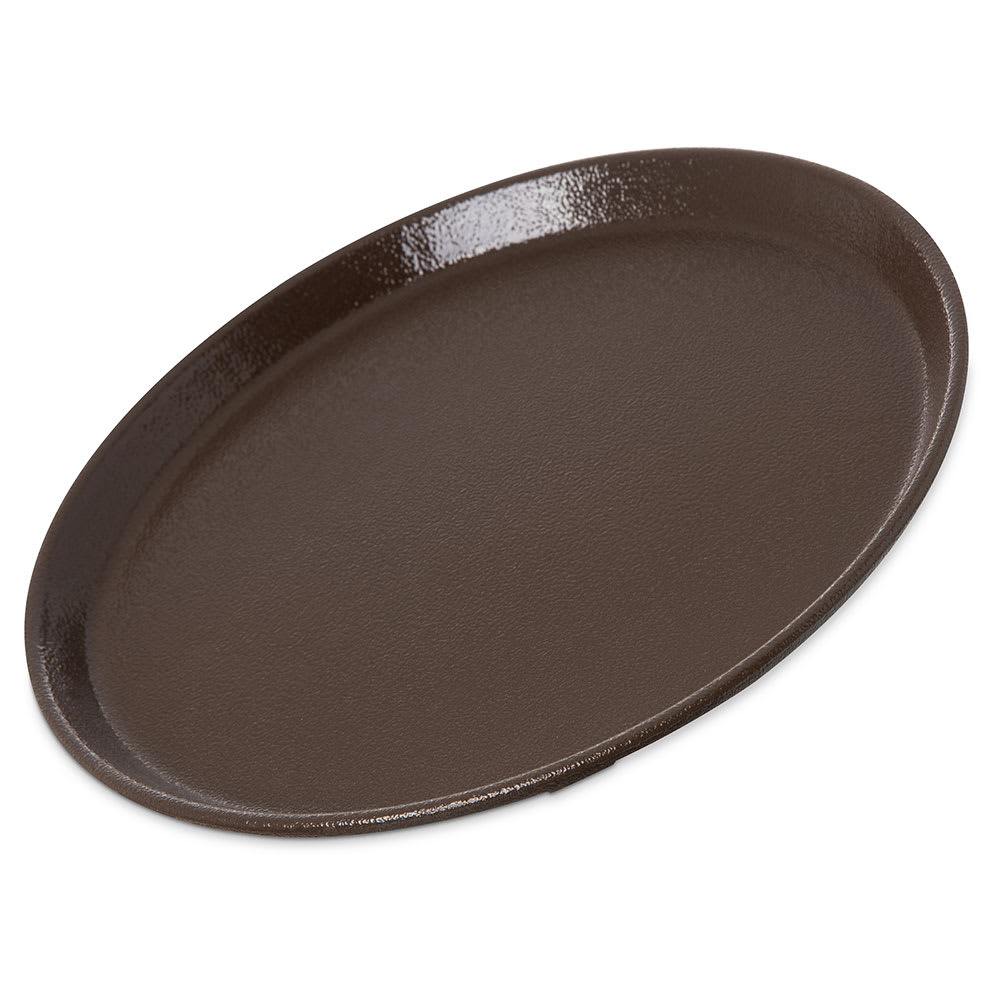 "Carlisle 1100GR2076 11"" Round Griptite™ 2 Serving Tray, Brown"