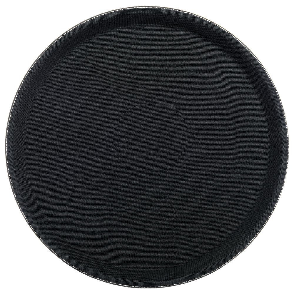 "Carlisle 1100GR2004 11"" Round Serving Tray - Black"