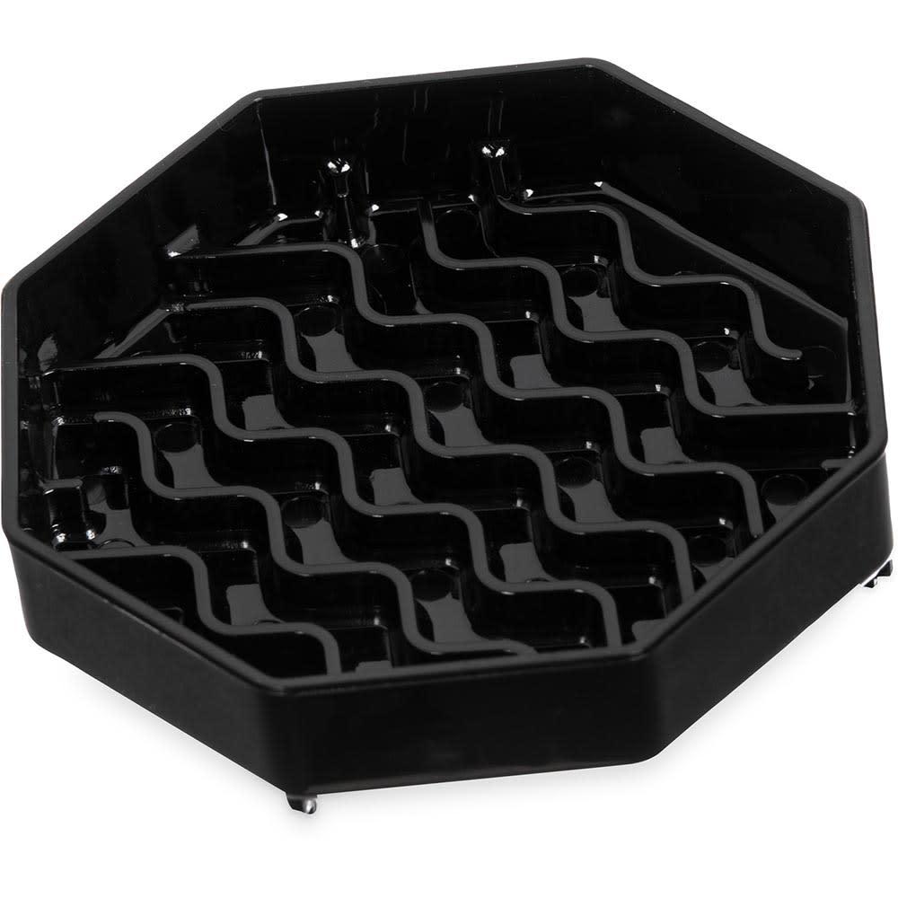 "Carlisle 1103003 4 3/8"" Octagonal Drip Tray - Black"