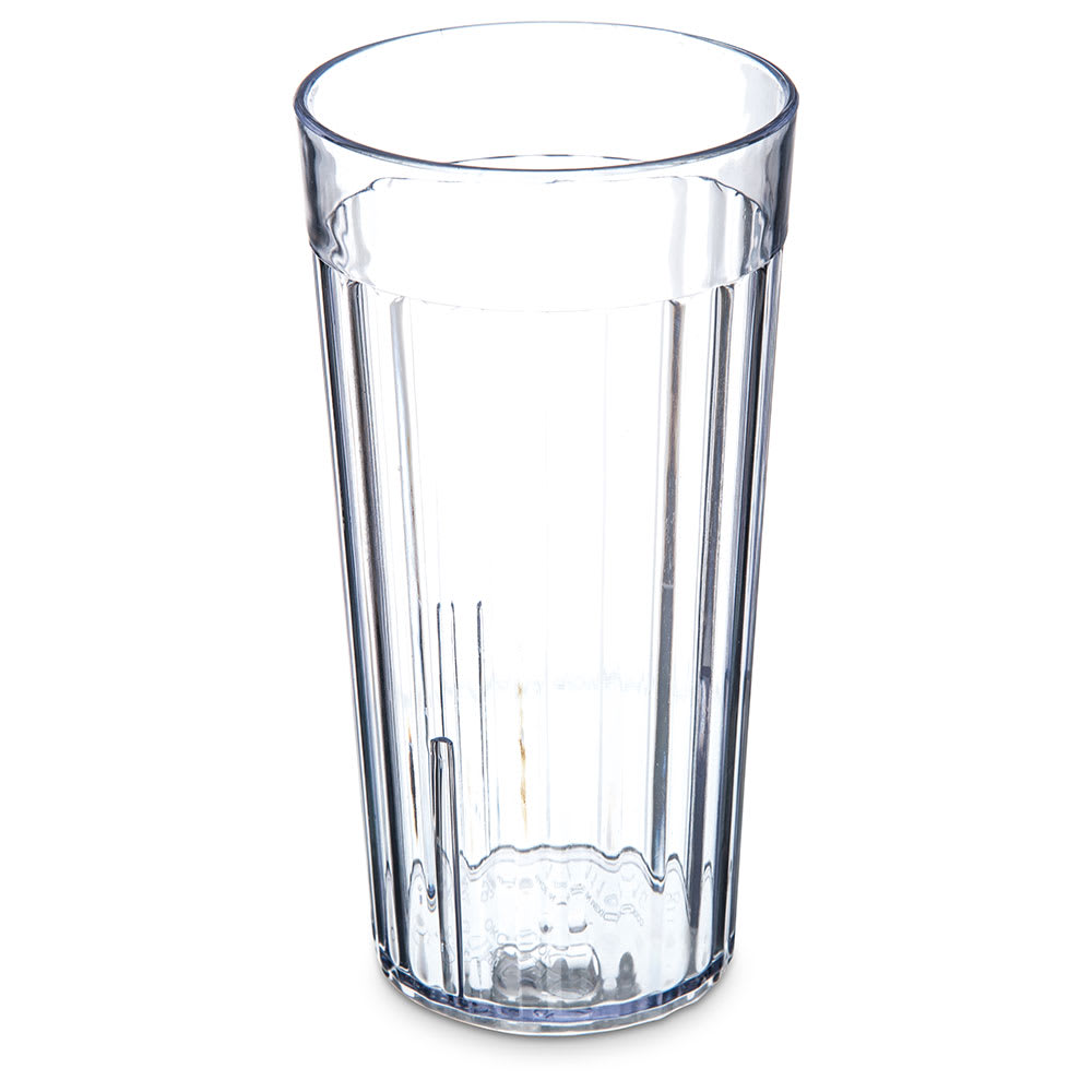 Carlisle 111607 16-oz Bistro Tumbler - Fluted, Clear