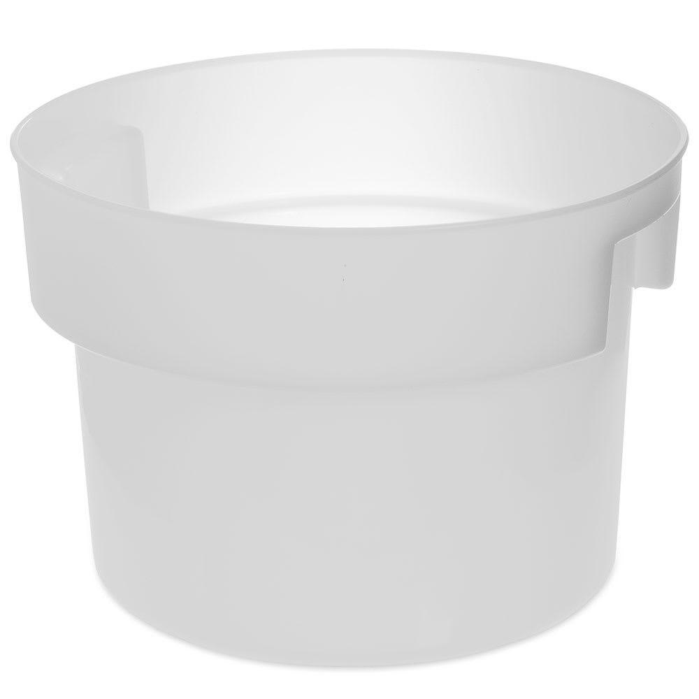 Carlisle 120002 12 qt Round Bain Marie Container - White