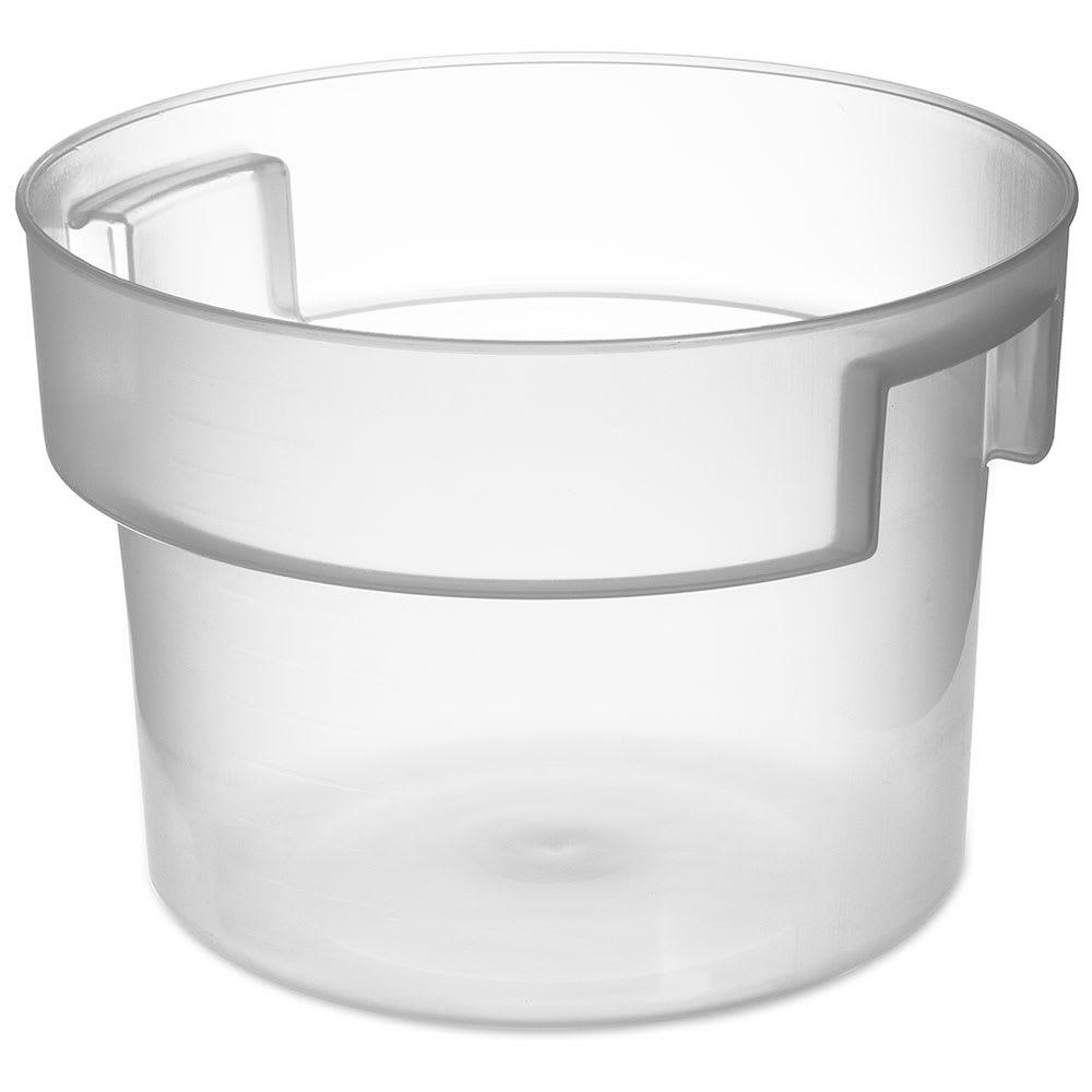 Carlisle 120530 12 qt Round Bain Marie Container - Translucent